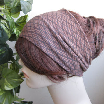 Nordic Diamond Turban Head Wrap, Hair Turband, Yoga / Workout Headband