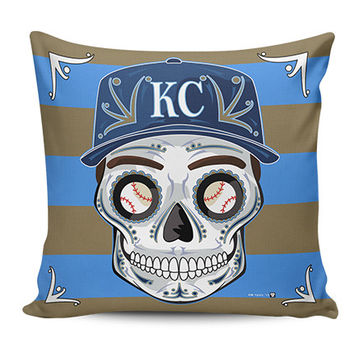 Royals Sugar Skull Pillow Covers