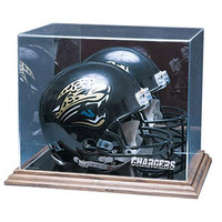San Diego Chargers NFL Full Size Football Helmet Display Case (Wood Base)
