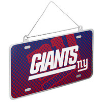 New York Giants Official NFL Metal License Plate Ornament