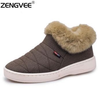 Home Slippers Women Men Unisex 2016 Winter Fur Warm Indoor Slippers Shoes Brand Casual