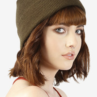 Nora Striped Beanie - Olive