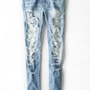 AEO Women's Denim X Hi-rise Jegging (Torn Dreams)