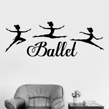 Vinyl Wall Decal Ballet Dancing Girls Dance Room Stickers Art Mural Unique Gift (ig3471)
