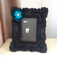 Jewelry Organizer Stud Earring Holder Ornate Black Matte Frame Bedroom Decor Ready to Ship