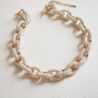 Pave Chain Links Necklace