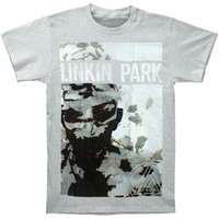 Linkin Park Men's  Living Things Cover Grey Slim Fit T-shirt Grey