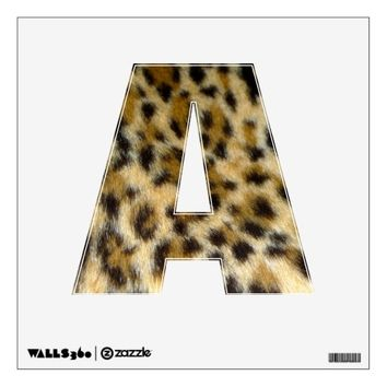 Alphabet Letter A in Leopard Print Wall Decals