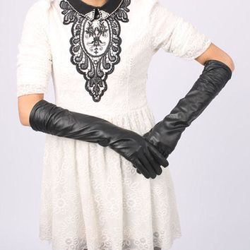 Satin Long Finger Elbow Sun protection gloves Opera Evening Party Prom Costume Fashion Gloves Weeding Gloves