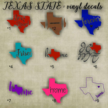 Texas State - vinyl decal