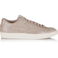 Nike - Blazer snake-effect leather sneakers