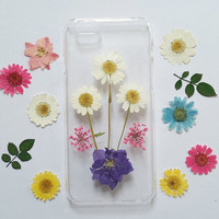 iPhone 6 Case floral, iPhone 6 Plus Case flower, Floral iPhone 5c Case, Clear iPhone 5 Case, iPhone 5s Case Clear,Pressed Flower iphone case