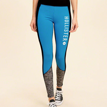 Girls Colorblock Graphic Active Leggings | Girls New Arrivals | HollisterCo.com