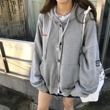 Korean Women's Fashion Hats Winter Fleece Embroidery Hoodies [110332739609]