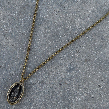 Quan Yin pendant chain necklace