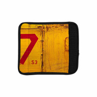 "Steve Dix ""7S3"" Yellow Painting Luggage Handle Wrap"