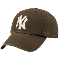 New York Yankees '47 Brand Basic Logo Clean Up Adjustable Hat – Brown