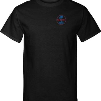 Ford Mustang T-shirt Shelby Blue and Red Logo Pocket Print Tall Tee