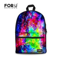 Trendy Children School Bags Women Galaxy Schoolbag for teenager Girls Canvas Students School Bag Mochila Kids Bookbag
