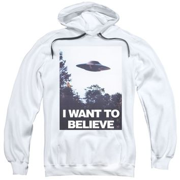 X Files - Believe Poster Adult Pull Over Hoodie Officially Licensed Apparel
