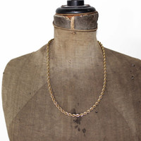 Thick Gold Rope Chain Necklace