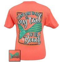 Girlie Girl Preppy my Mermaid tail to the beach T-Shirt
