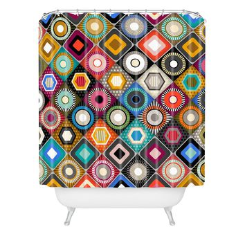Sharon Turner festival diamond Shower Curtain