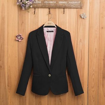 LMFUS4 NEW blazer women suit blazer foldable brand jacket made of cotton & spandex with lining Vogue refresh blazers