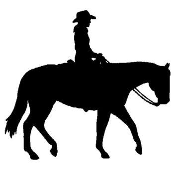 Western Horse and Rider Equine Window Decal on a Clear Background - Repositionable and Reusable Sticker