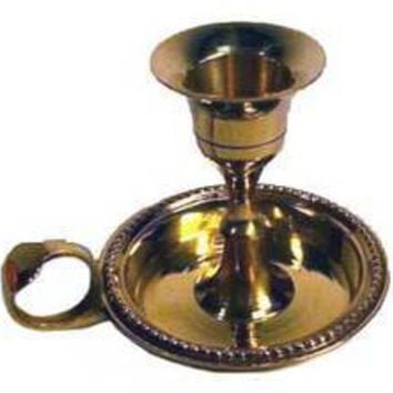 Brass Chamberstick Taper candle holder