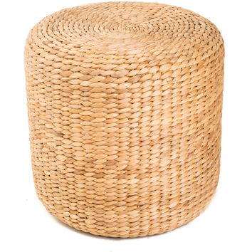 Water Hyacinth Halo Threaded Ottoman (Vietnam) | Overstock.com Shopping - The Best Deals on Ottomans