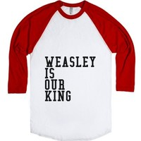 Weasley Is Our King-Gryffindor Tee-Unisex White/Red T-Shirt