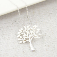 Sterling Silver Tree Necklace - Tree of Life Nature Jewelry with 18 inch Sterling Silver Chain