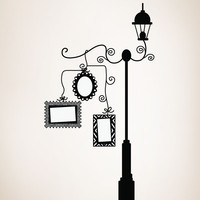 Vinyl Wall Decal Sticker Lampost with Picture Frames #OS_DC161