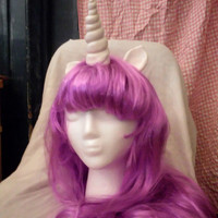 Unicorn Wig Purple Violet Twilight Sparkle Unicorn Horn Costume Wig My Little Pony Cosplay Gusty