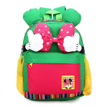Toddler Backpack class Lovely Kid & Baby's bag girls  kindergarten school bag personality Bow tie baby's backpack mochila escolar AT_50_3