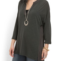 Tunic Hi-lo Blouse - Women - T.J.Maxx