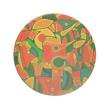 Color Jungle Red Inspiration Drink Coaster