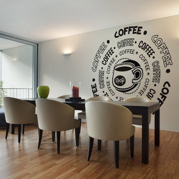 Vinyl Wall Decal Sticker Coffee Shop #OS_DC180