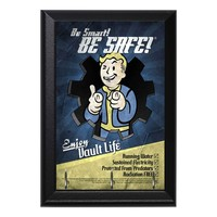 Fallout Be Smart Be Safe Enjoy Vault Life Geeky Wall Plaque Key Holder Hanger