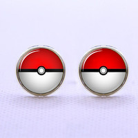 Cuff  links,Pokemon Pokeball  cufflinks,Weeding gift,personnality gift,Photo cufflinks,Superhero cufflinks