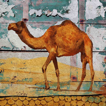 "Camel House. Extra Large Camel Canvas Print up to 45 x 45"" by Irena Orlov"