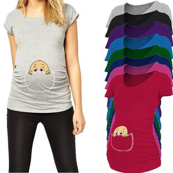 """""""Baby peeking out"""" New Maternity Shirt specialized for pregnant women"""