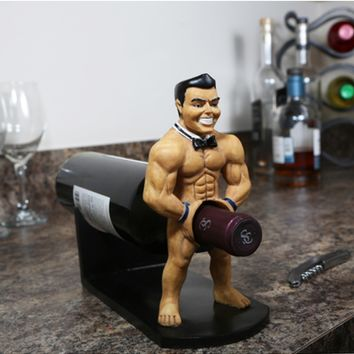 Uncork Me! Wine Bottle Holder - Naughty Male Stripper Wine Holder