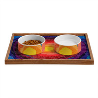 Raven Jumpo Tie Die Madness Pet Bowl and Tray