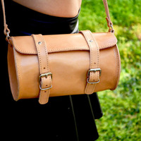 Leather Women bag, women small bag, natural leather bag, real leather bag, barrel bag, crossbody bag