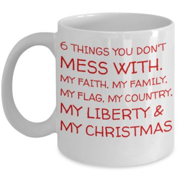 Holiday Christmas Mug With Funny Saying & Inspiration Quote - Xmas Gift For Her, Him, Mom, Dad, Grandma, Grandpa, Sister, Brother, Girlfriend, Boyfriend - Cup for Cocoa, Coffee, Tea, Cookies & Ginger Bread