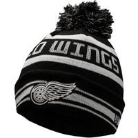 Detroit Red Wings New Era Fashion Jake Glow in the Dark Knit Hat - Black