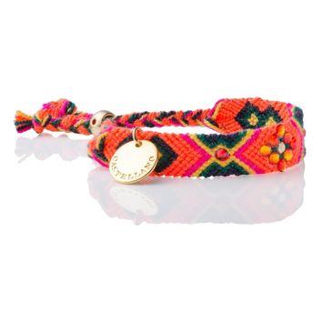 Wayuu Handwoven Double Gold Plated Sustainable & Friendship Bracelet with 100% Swarovski Crystals 03