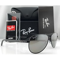 Ray-Ban Aviator Carbon Polarized Sunglasses RB8313 002/K7 Black/Gray Mirror 61mm